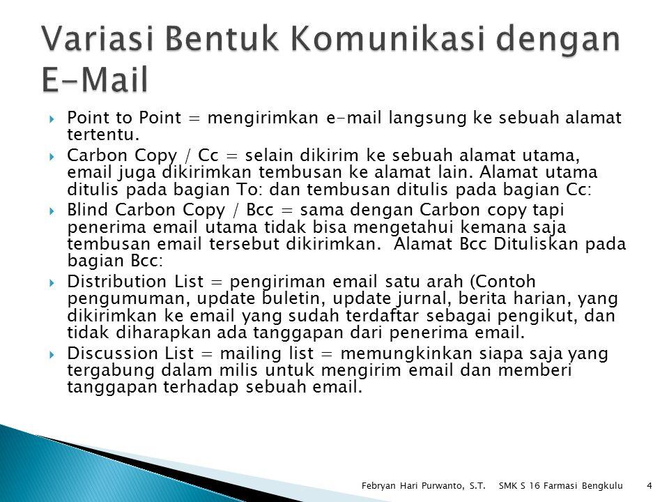 Variasi Bentuk Komunikasi dengan E-Mail