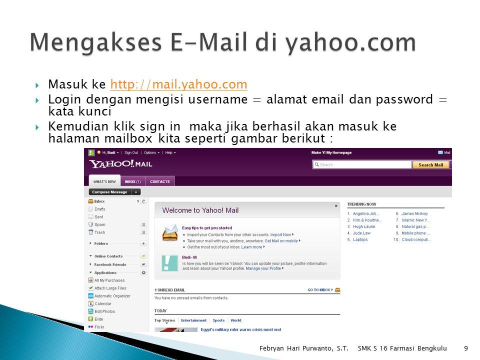 Mengakses E-Mail di yahoo.com