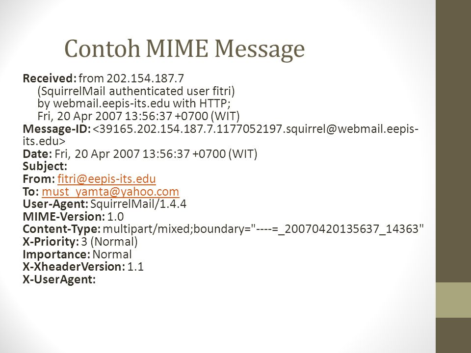 Contoh MIME Message