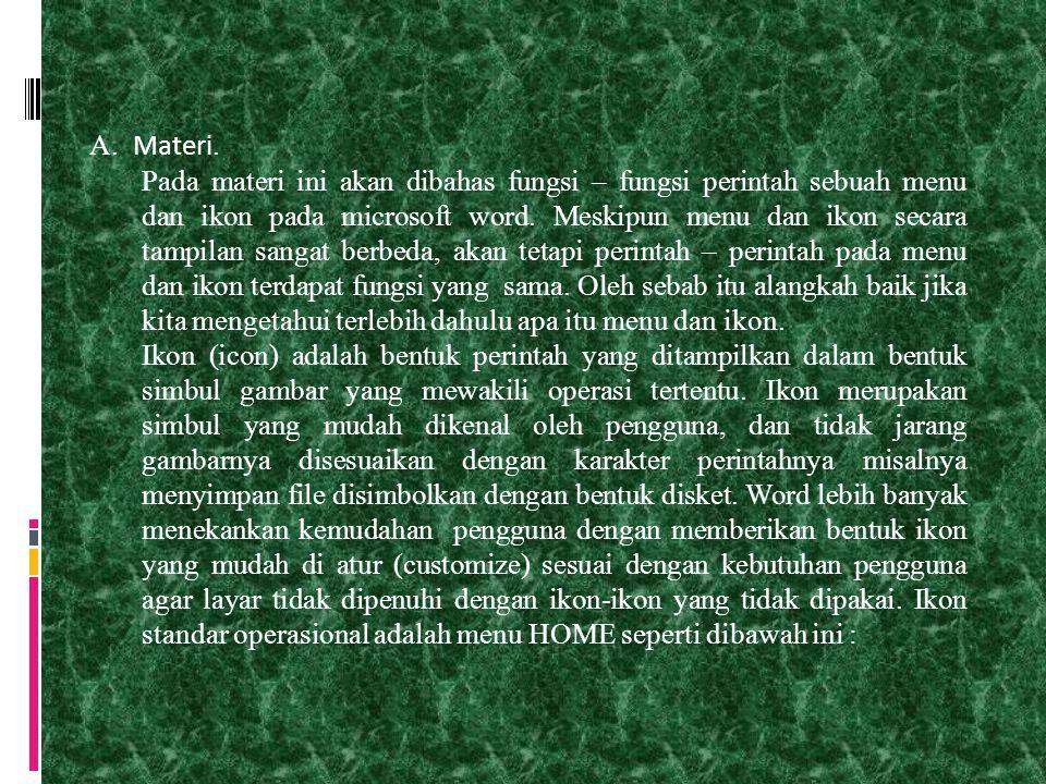 A. Materi.
