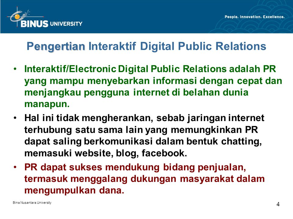 Pengertian Interaktif Digital Public Relations