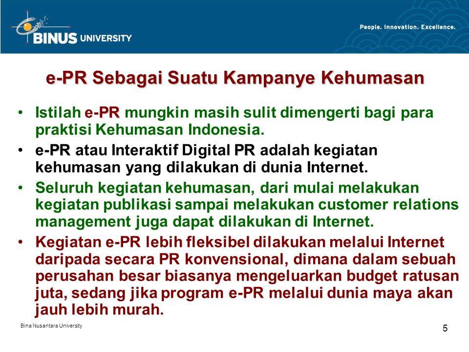 e-PR Sebagai Suatu Kampanye Kehumasan