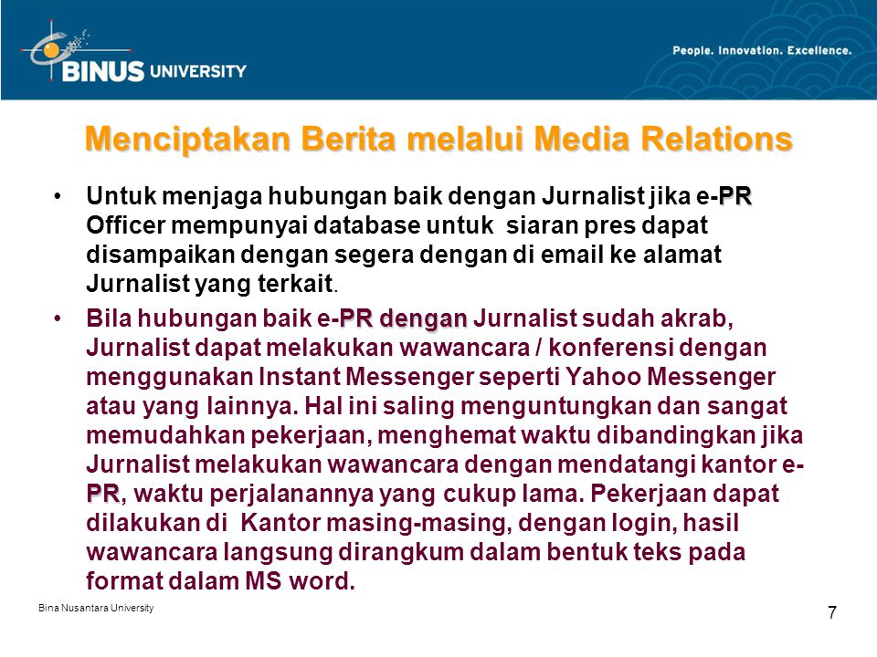 Menciptakan Berita melalui Media Relations