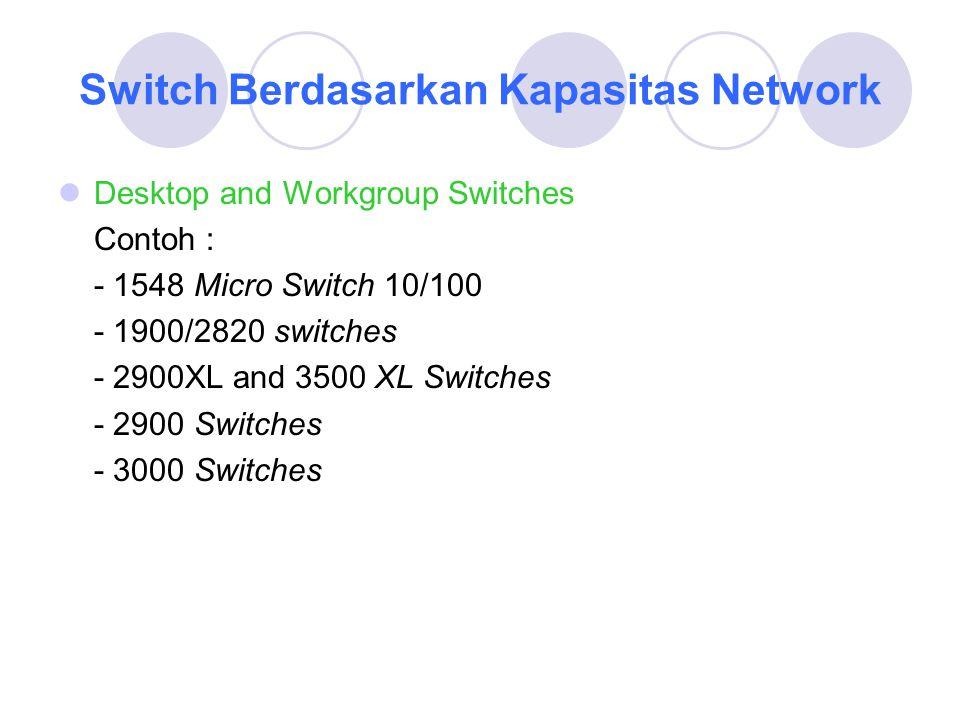 Switch Berdasarkan Kapasitas Network