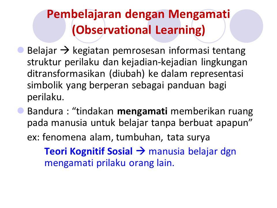 Pembelajaran dengan Mengamati (Observational Learning)