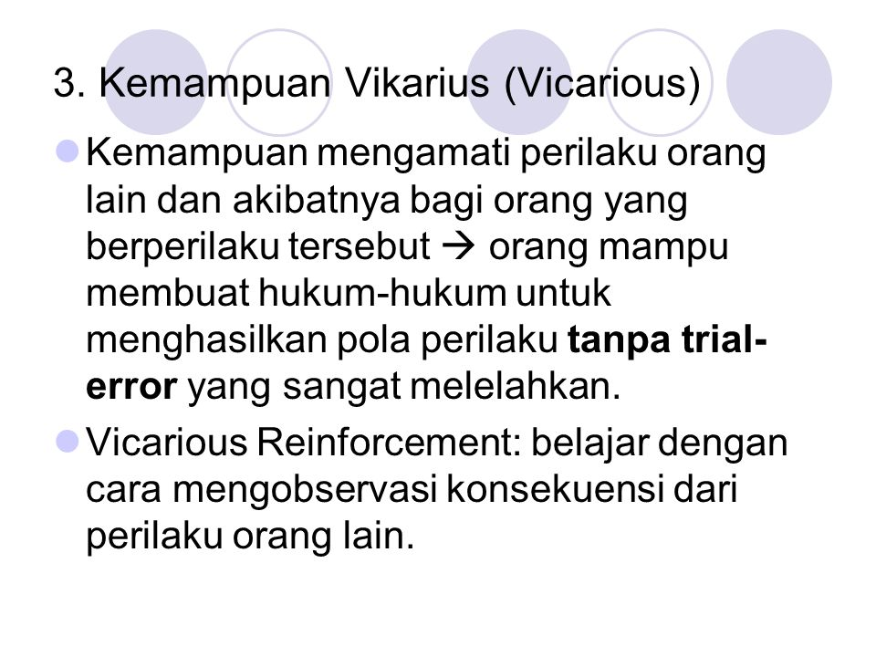 3. Kemampuan Vikarius (Vicarious)