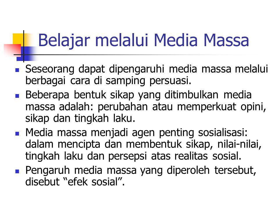 Belajar melalui Media Massa