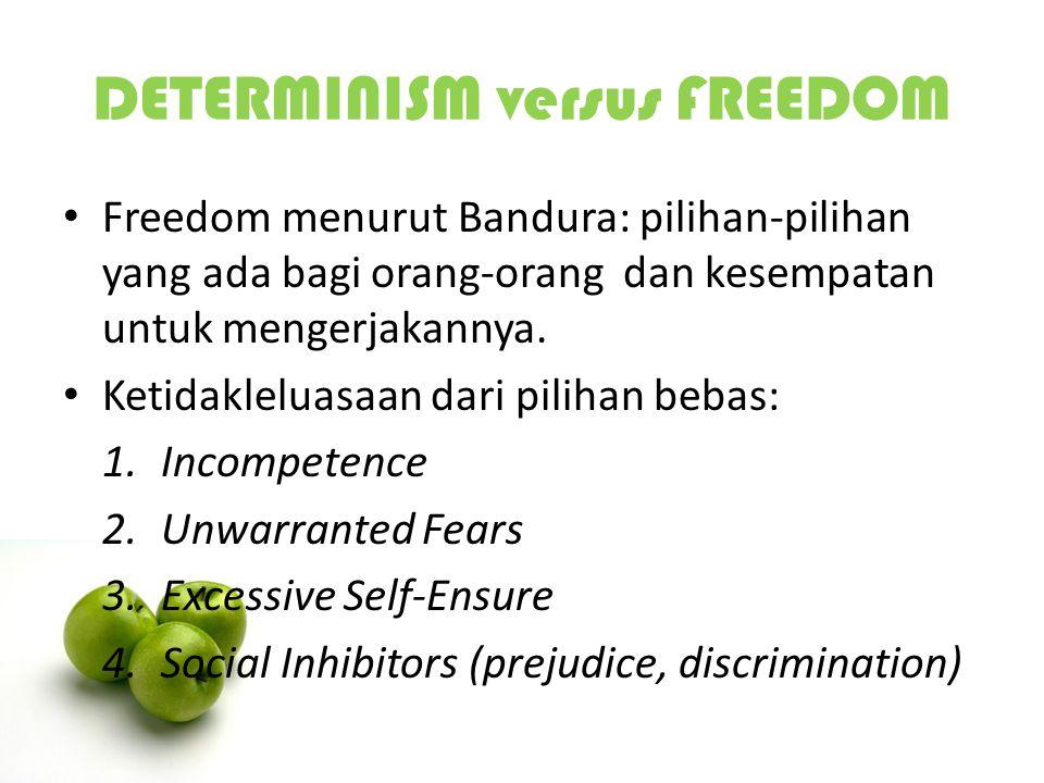 DETERMINISM versus FREEDOM