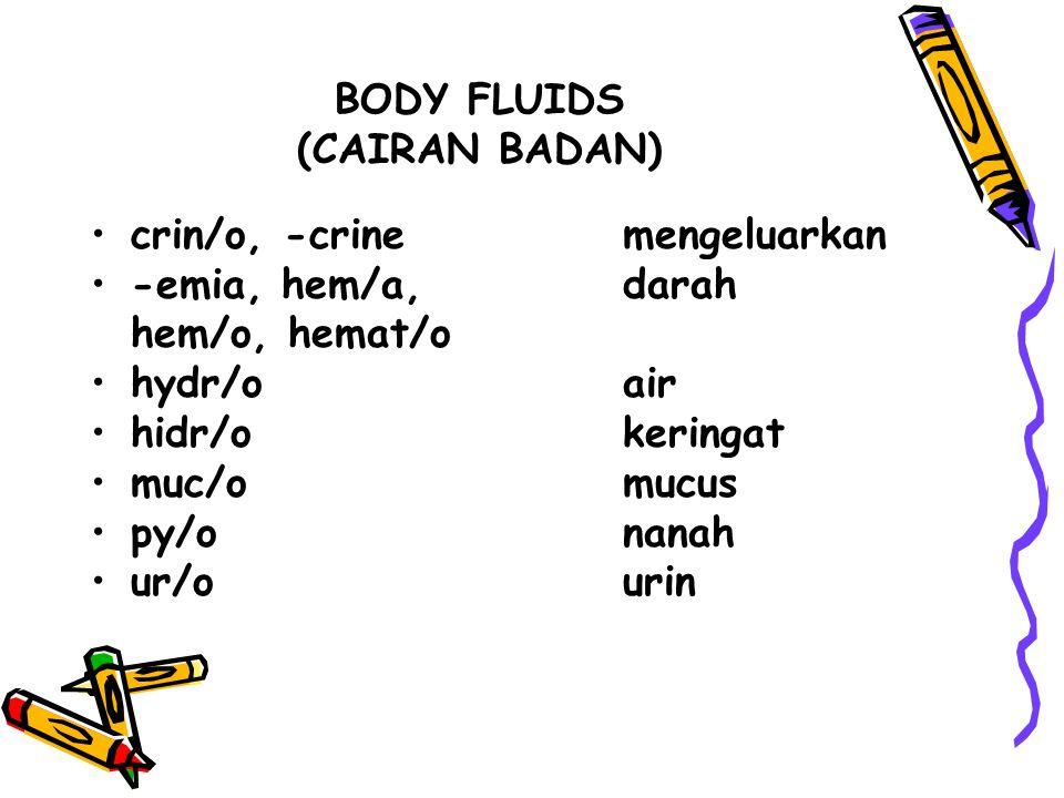 BODY FLUIDS (CAIRAN BADAN)