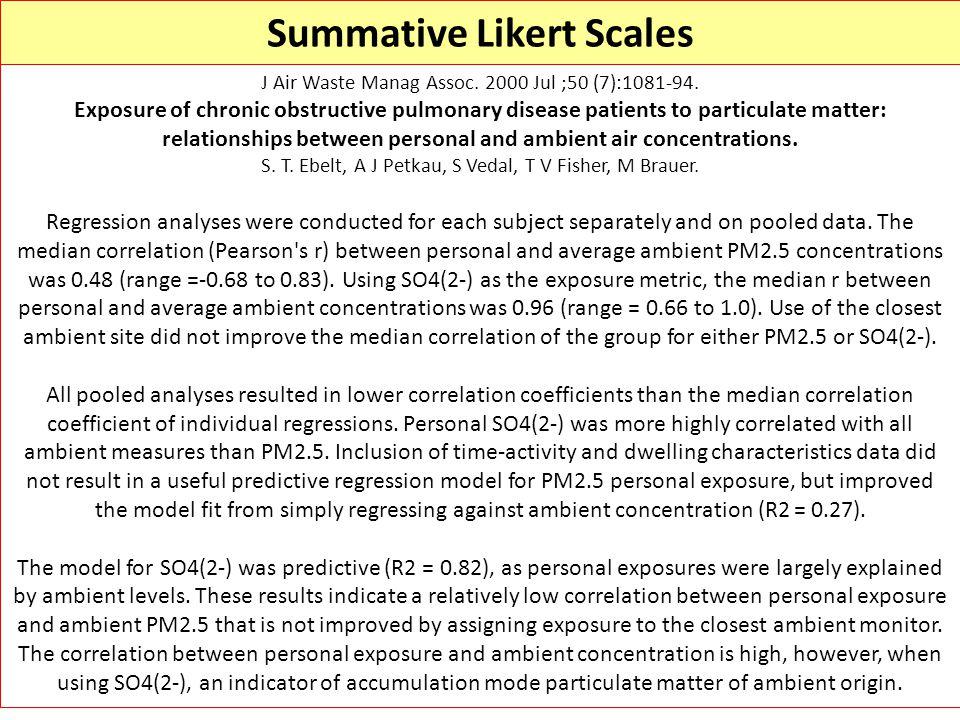 Summative Likert Scales