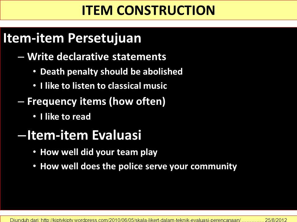Item-item Persetujuan