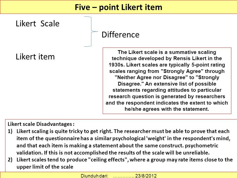 Five – point Likert item