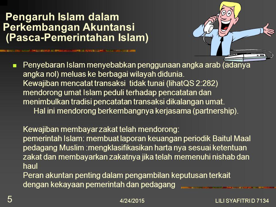 Pengaruh Islam dalam Perkembangan Akuntansi (Pasca-Pemerintahan Islam)