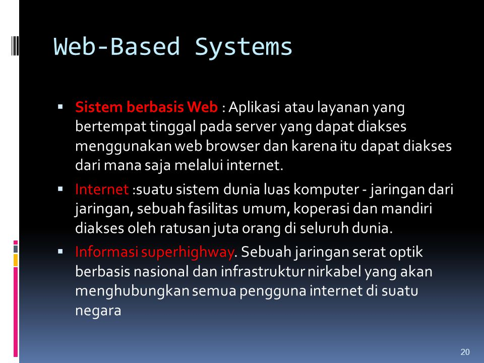 Web-Based Systems