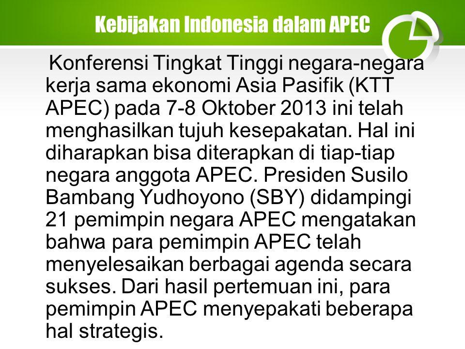 Kebijakan Indonesia dalam APEC