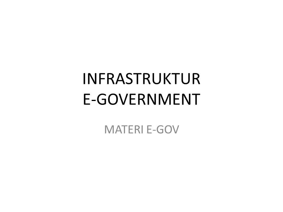 INFRASTRUKTUR E-GOVERNMENT