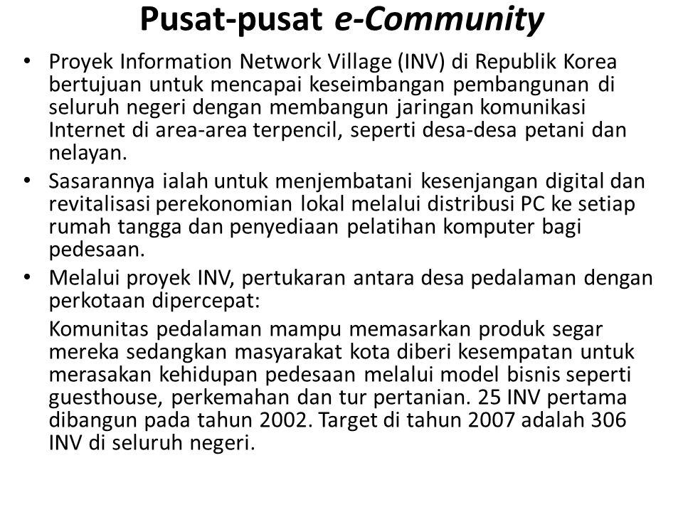 Pusat-pusat e-Community