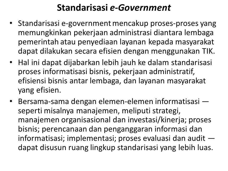 Standarisasi e-Government