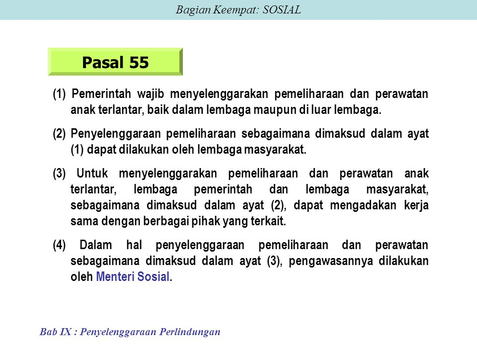 Bagian Keempat: SOSIAL