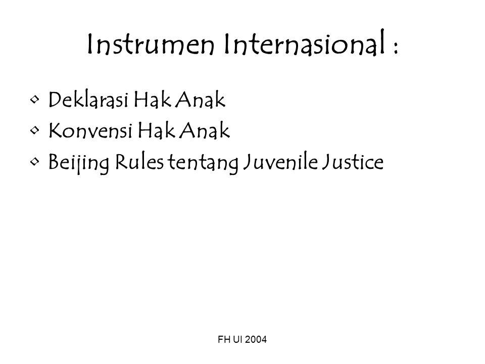 Instrumen Internasional :