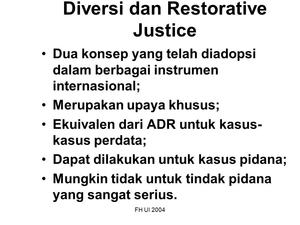 Diversi dan Restorative Justice