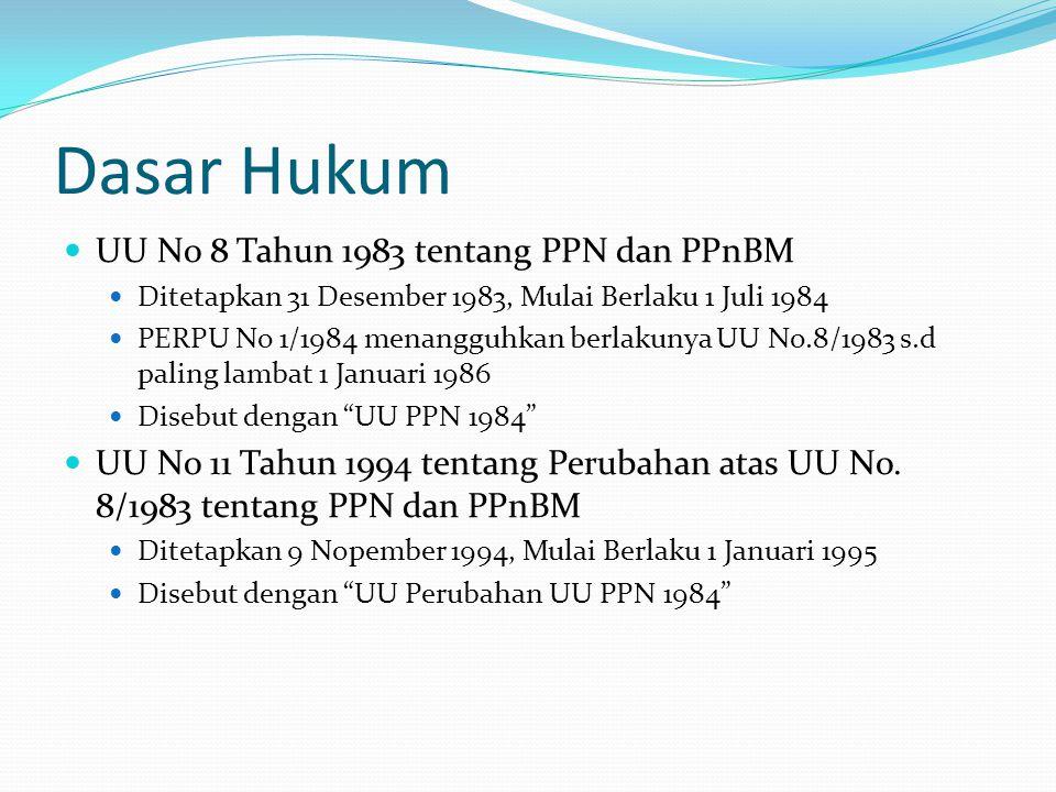 Dasar Hukum UU No 8 Tahun 1983 tentang PPN dan PPnBM