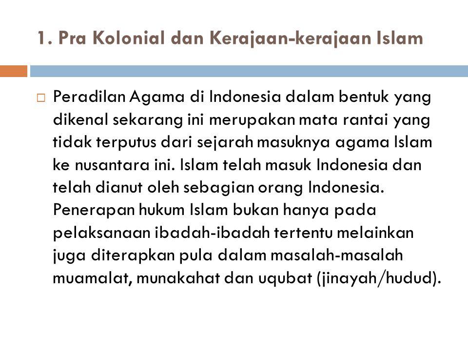 1. Pra Kolonial dan Kerajaan-kerajaan Islam