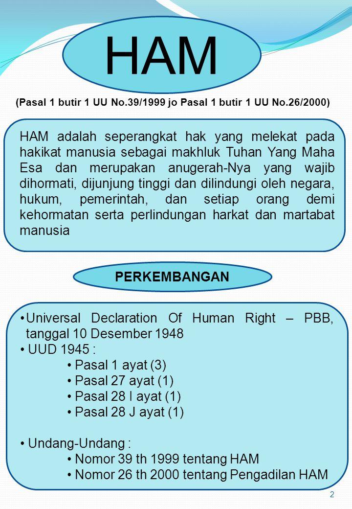 (Pasal 1 butir 1 UU No.39/1999 jo Pasal 1 butir 1 UU No.26/2000)