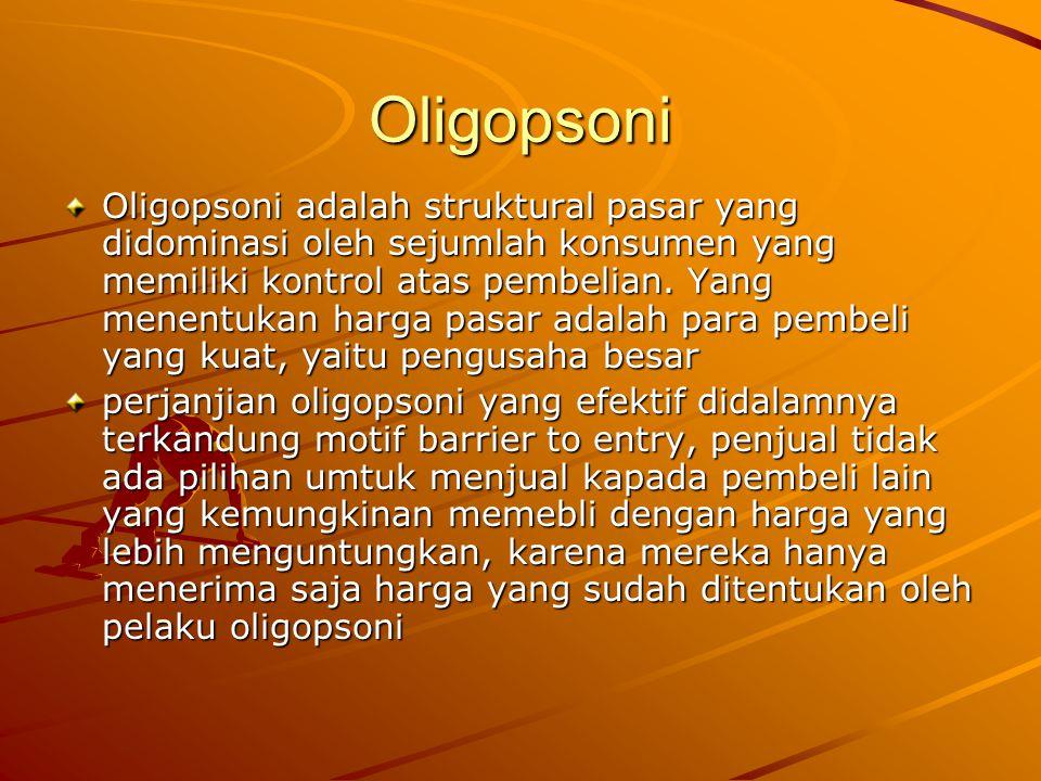 Oligopsoni