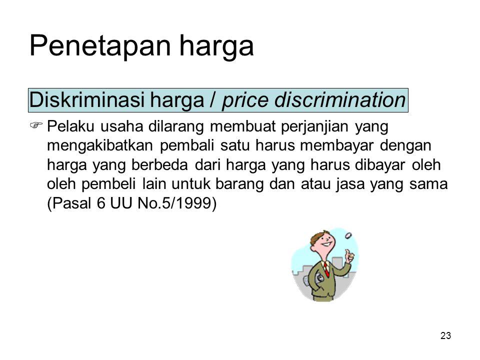 Penetapan harga Diskriminasi harga / price discrimination