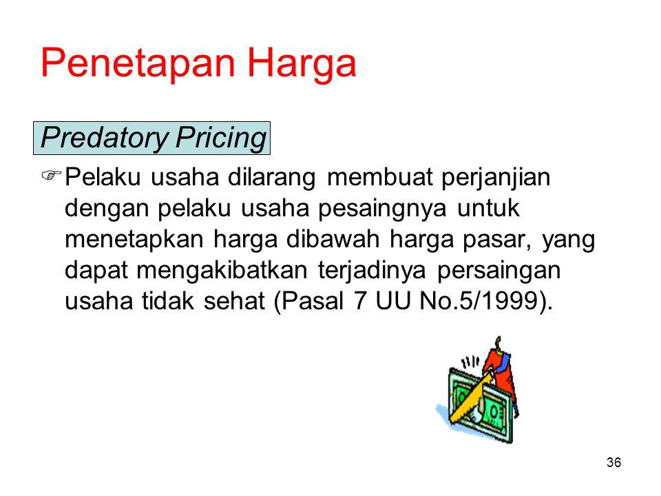 Penetapan Harga Predatory Pricing