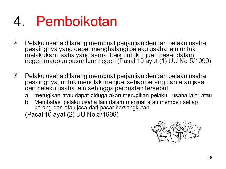 4. Pemboikotan
