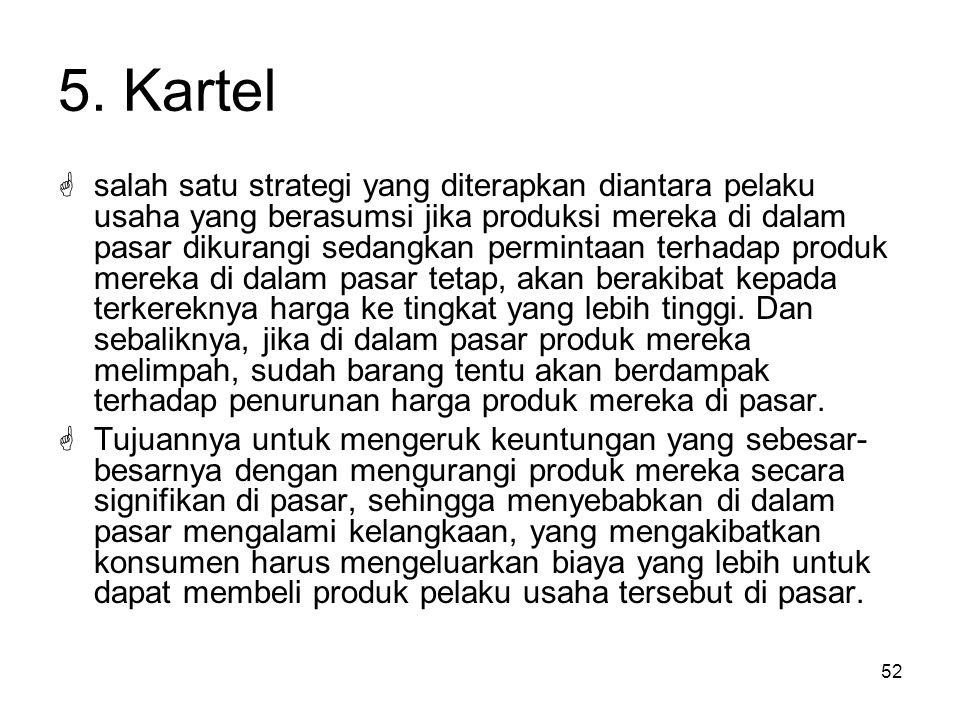 5. Kartel