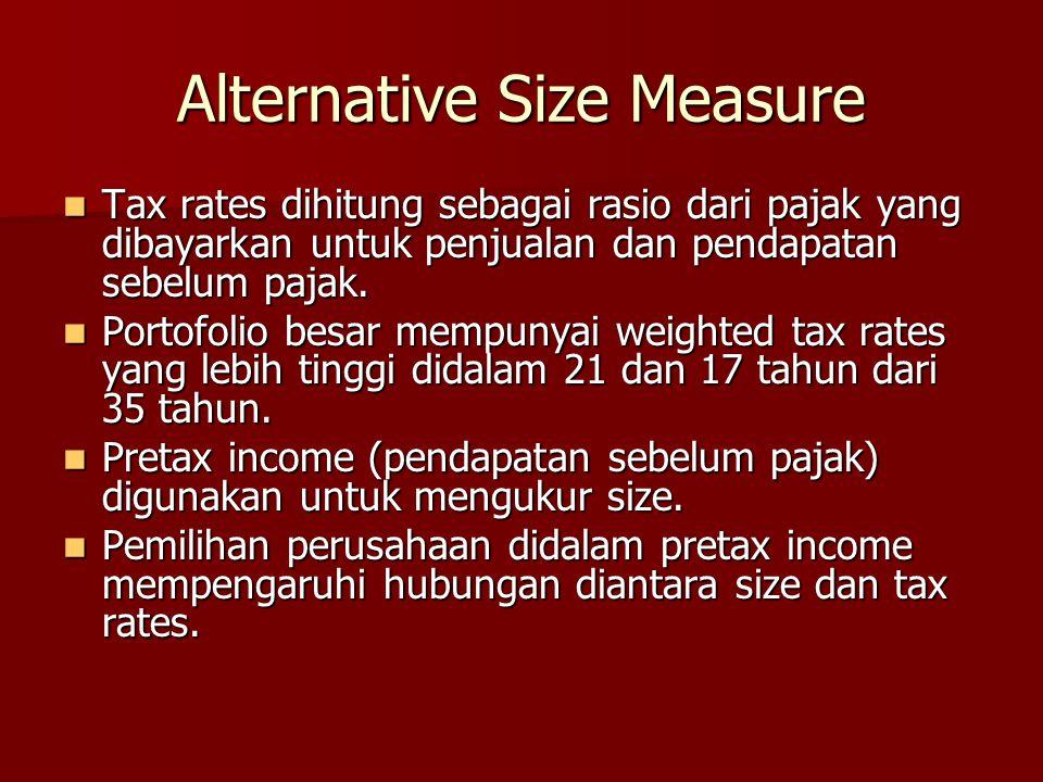 Alternative Size Measure