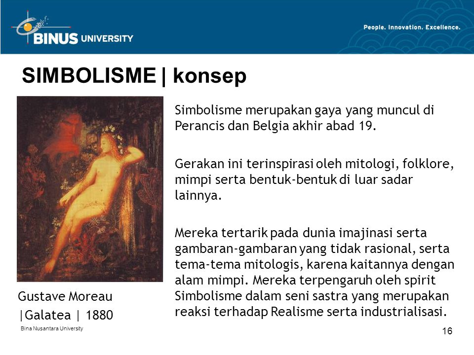 SIMBOLISME | konsep Simbolisme merupakan gaya yang muncul di Perancis dan Belgia akhir abad 19.