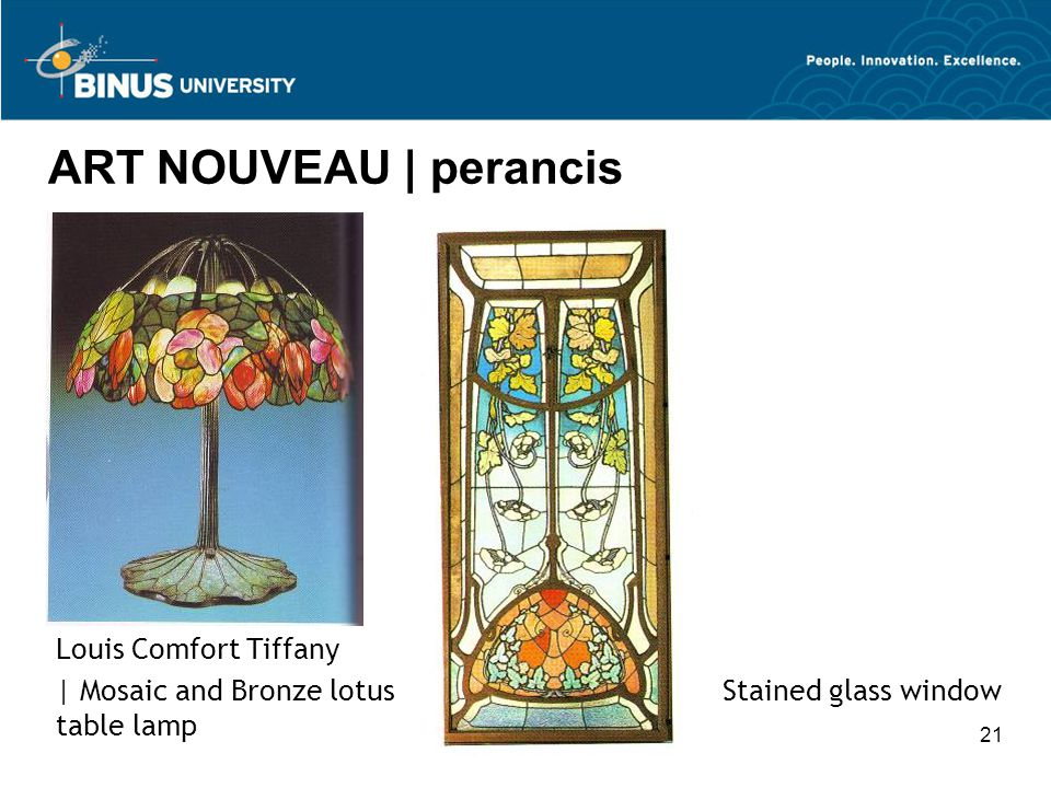 ART NOUVEAU | perancis Louis Comfort Tiffany
