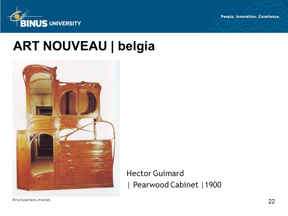 ART NOUVEAU | belgia Hector Guimard | Pearwood Cabinet |1900 22