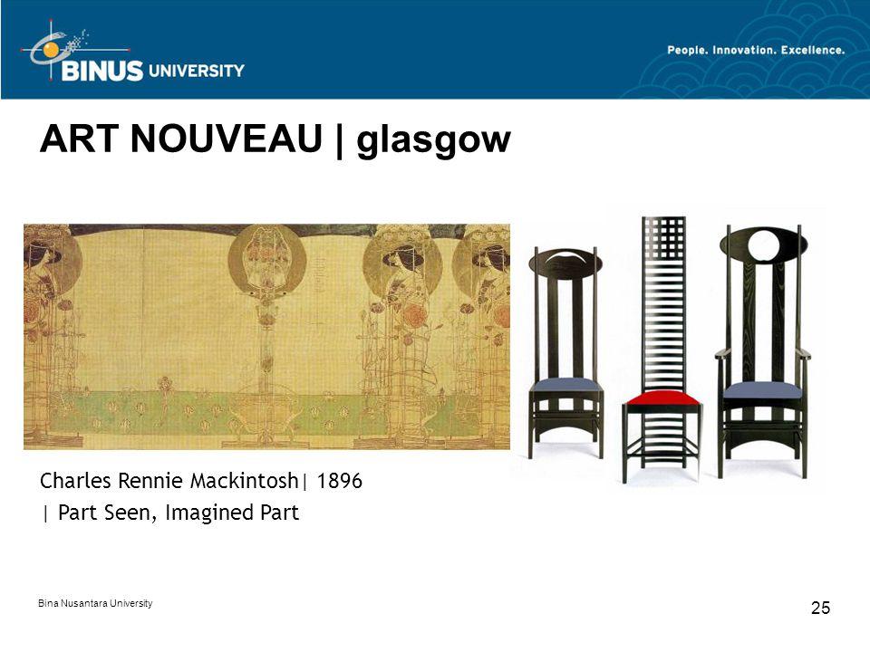 ART NOUVEAU | glasgow Charles Rennie Mackintosh| 1896