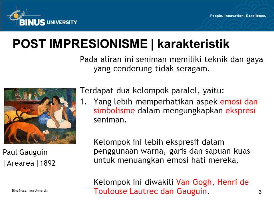 POST IMPRESIONISME | karakteristik