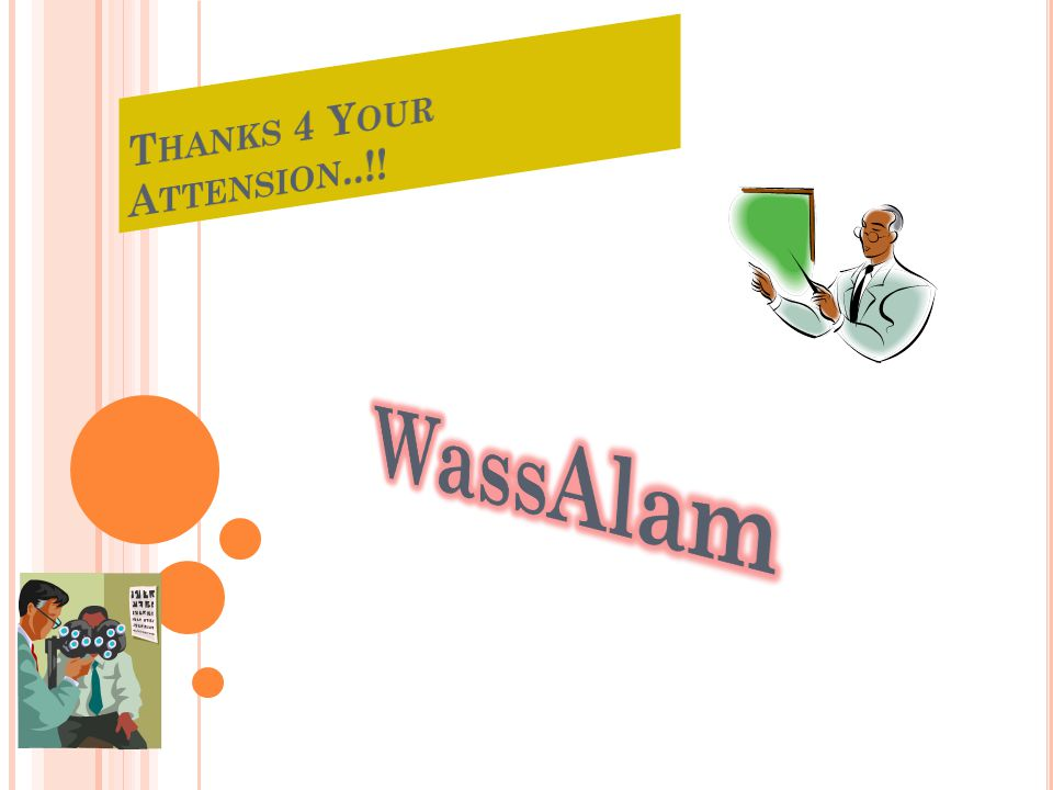 Thanks 4 Your Attension..!! WassAlam
