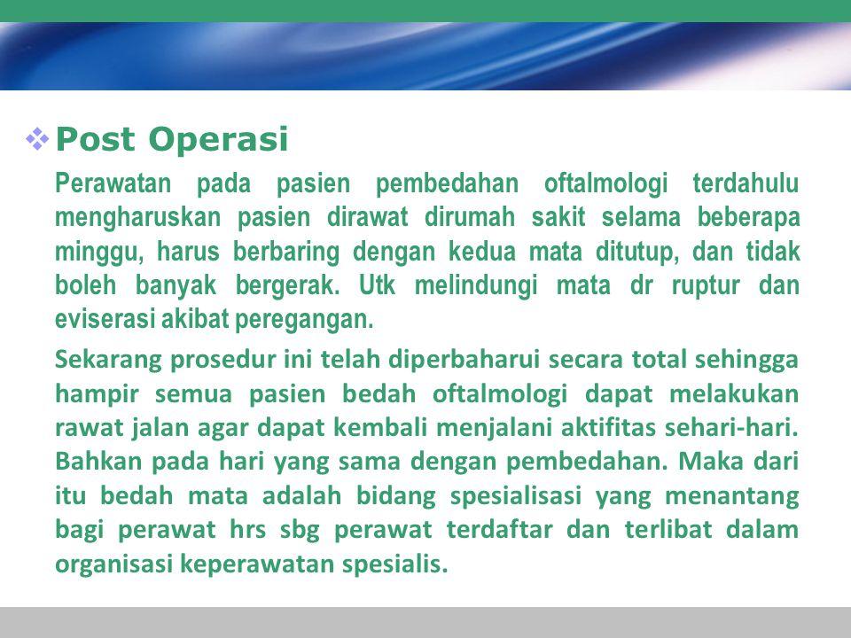 Post Operasi