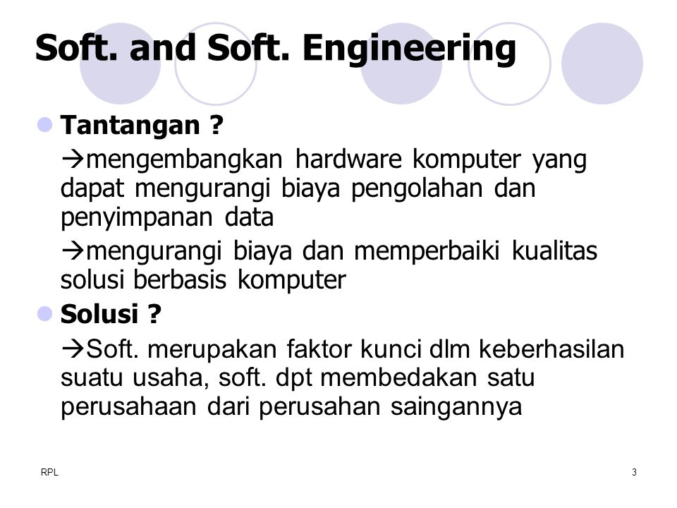Soft. and Soft. Engineering