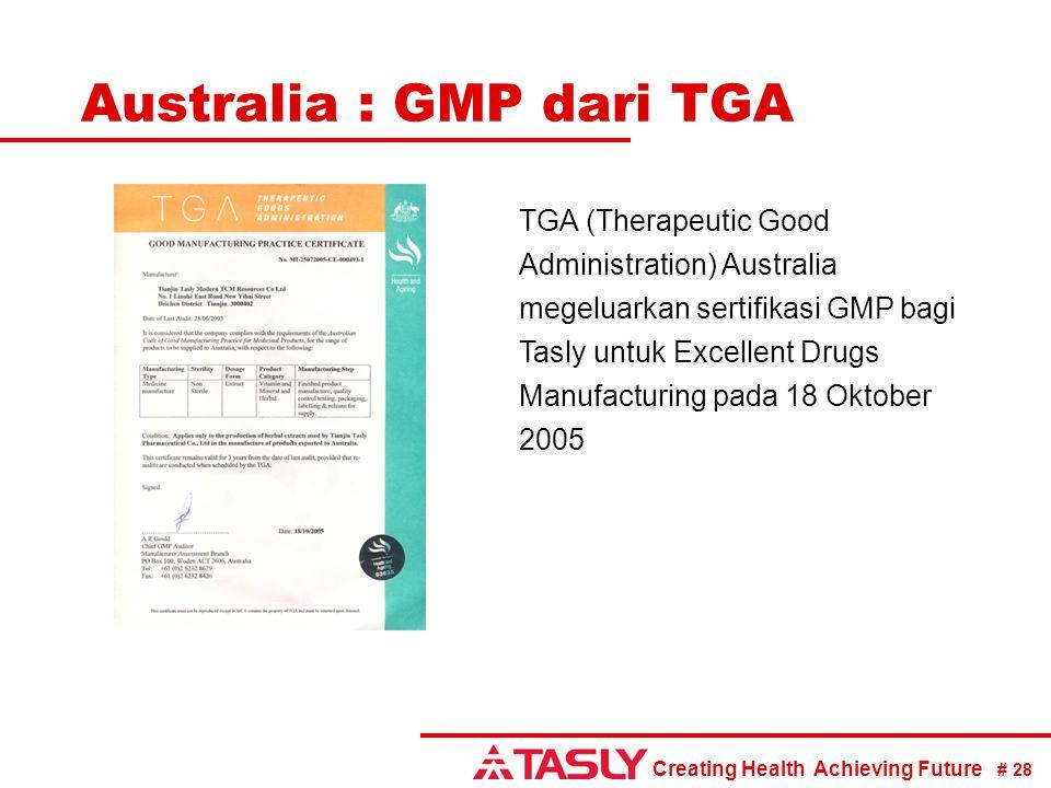 Australia : GMP dari TGA