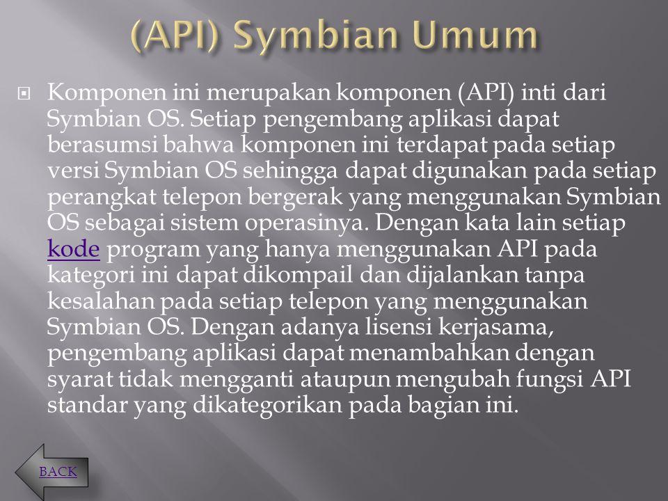 (API) Symbian Umum
