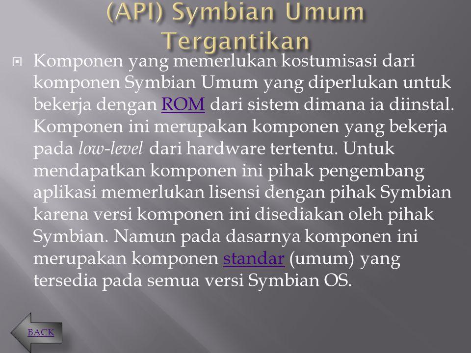 (API) Symbian Umum Tergantikan