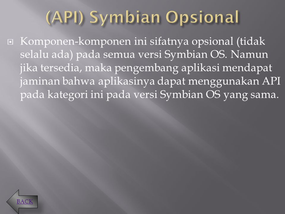(API) Symbian Opsional