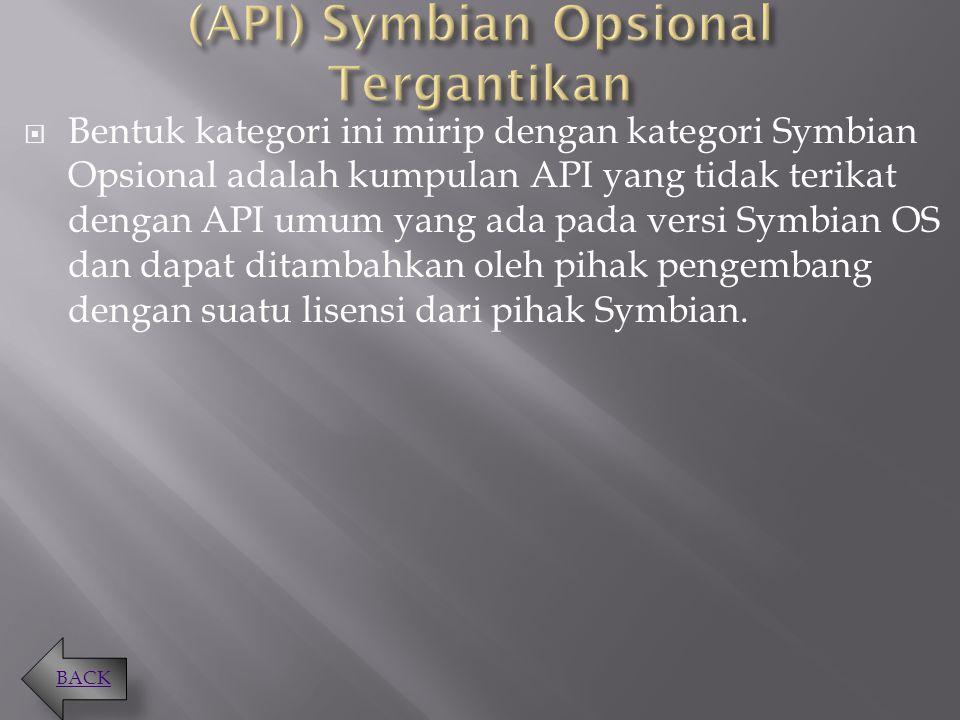 (API) Symbian Opsional Tergantikan