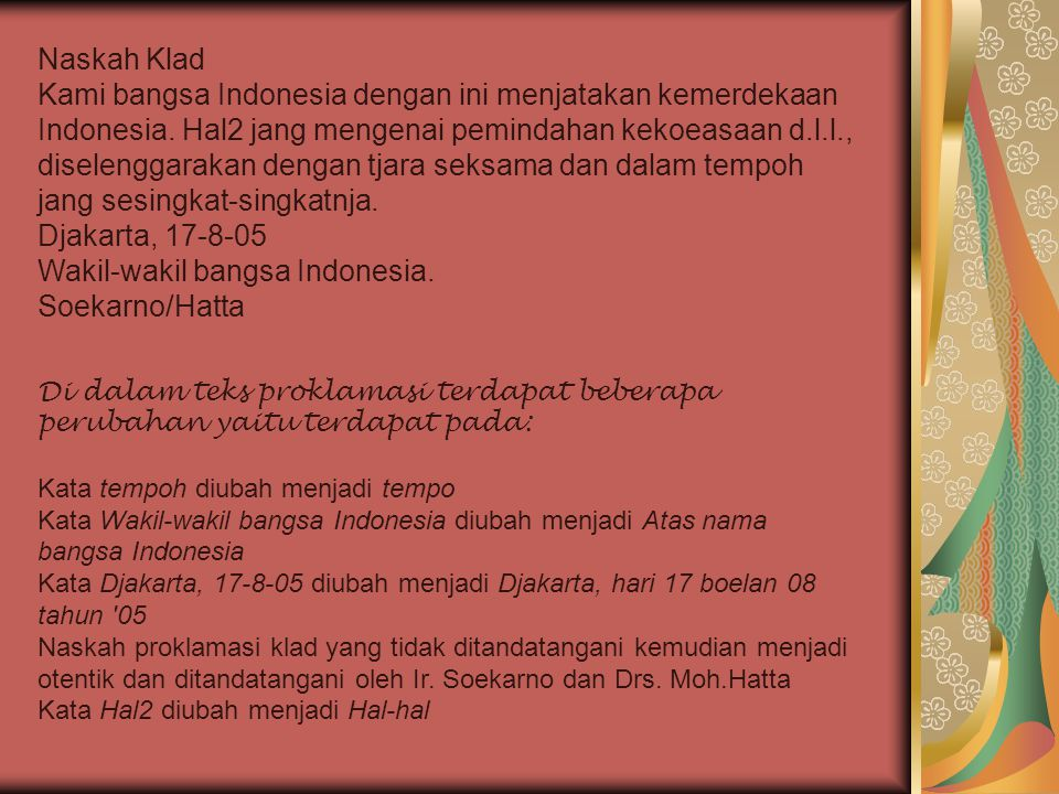 Wakil-wakil bangsa Indonesia. Soekarno/Hatta