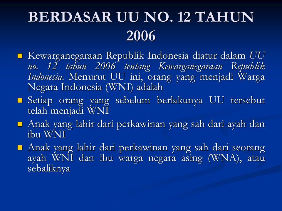 BERDASAR UU NO. 12 TAHUN 2006