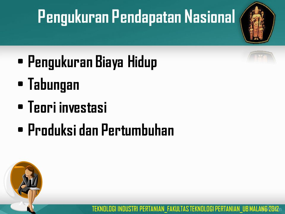 Pengukuran Pendapatan Nasional